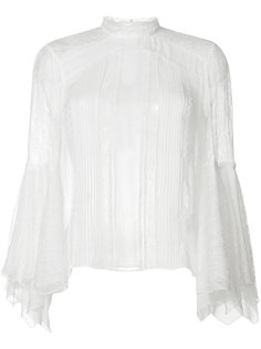 прозрачная кружевная блузка Alice+Olivia