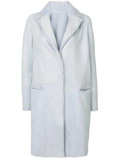пальто с отделкой Yves Salomon