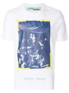 футболка с принтом caravaggio  Off-White
