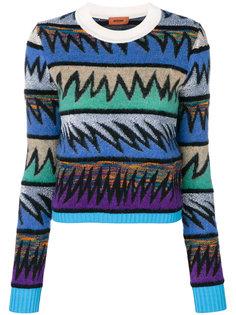 свитер в стиле колор блок Missoni