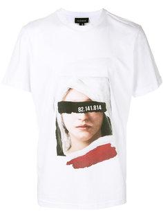 футболка с принтом женского лица Icosae