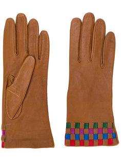 checked detail gloves  Missoni Vintage
