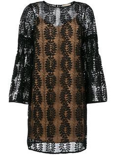 кружевное платье с рукавами-колокол Michael Michael Kors