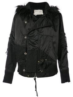 куртка с меховой оторочкой Greg Lauren