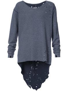 свитер с потертой отделкой Greg Lauren