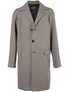 однобортное пальто Raf Simons