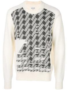 свитер с абстрактным узором Maison Margiela