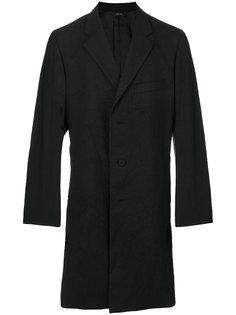 однобортное пальто с эффектом помятости Issey Miyake Men