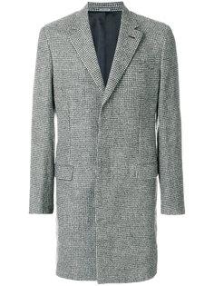 однобортное пальто в ломаную клетку Lanvin