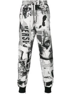 спортивные брюки с принтом логотипа Versus