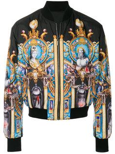 куртка-бомбер Triptych Versace