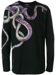 футболка с принтом змеи Balmain