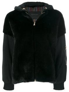 fur detail hooded jacket  Blancha