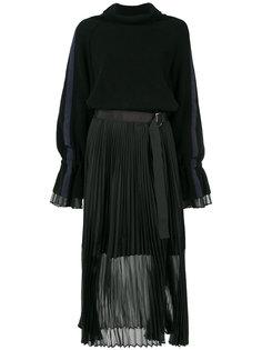 плиссированное платье-свитер  Sacai
