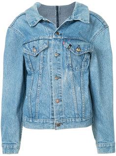 джинсовая куртка с молнией на спине R13