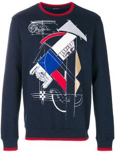 свитер с абстрактным принтом Versace