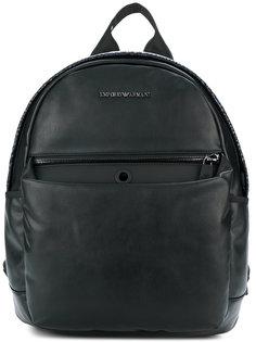 рюкзак с эффектом змеиной кожи Emporio Armani