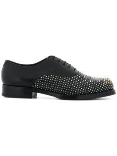 туфли на шнуровке с заклепками Emporio Armani