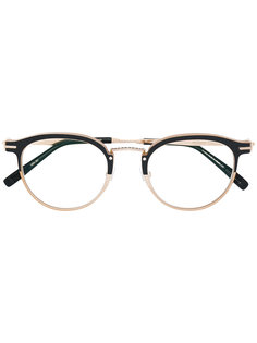 bicolour round frame glasses Matsuda