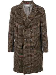 двубортное пальто в клетку Brunello Cucinelli