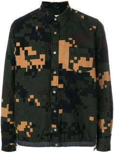 рубашка с камуфляжным принтом Pixel  Sacai
