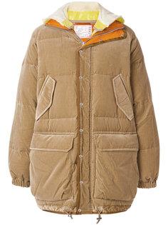 стеганое пальто мешковатого кроя  Sacai