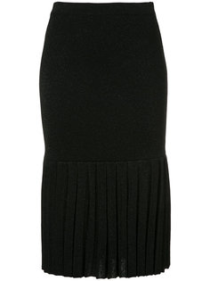 Malena pleated knitted skirt Rebecca Vallance