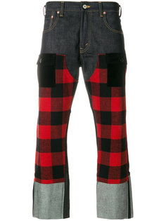 check panel straight jeans Junya Watanabe Comme Des Garçons