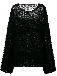 свободный свитер крупной вязки  Ann Demeulemeester