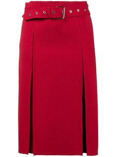 эластичная шерстяная юбка-килт Helmut Lang