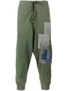 спортивные брюки с заплатками Greg Lauren