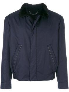 куртка-бомбер с контрастным воротником Brioni