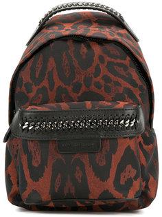 мини рюкзак Falabella Go с леопардовым узором Stella McCartney