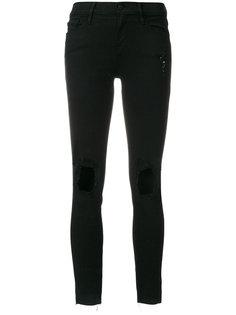 джинсы скинни с эффектом потертости Frame Denim