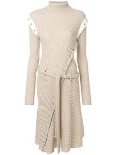 асимметричное трикотажное платье Paco Rabanne