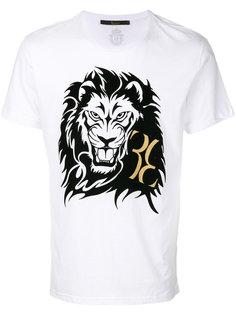 футболка с принтом льва Billionaire