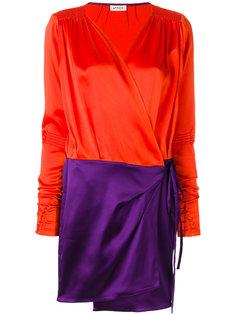 расклешенное платье с контрастной вставкой  Attico
