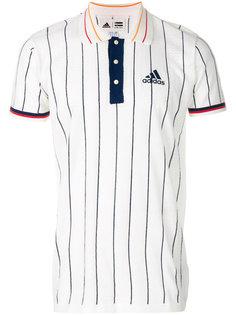 рубашка-поло с отделкой в полоску Adidas