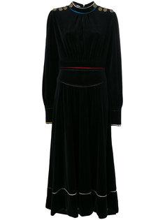 бархатное длинное платье  Sonia Rykiel