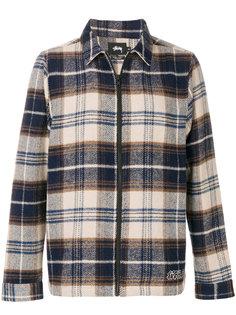 клетчатая куртка-рубашка Stussy