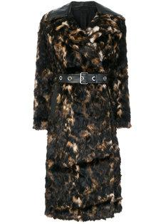 пальто с вышивкой  Helmut Lang