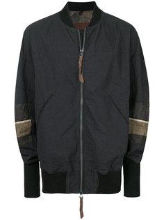 куртка-бомбер  с контрастными вставками на рукавах Ziggy Chen