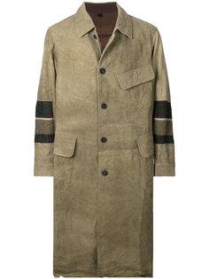 пальто с контрастными нашивками Ziggy Chen