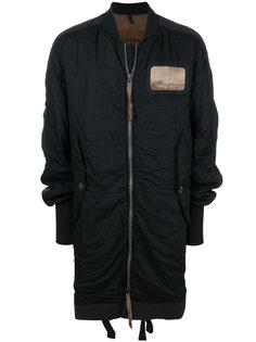 пальто на молнии с заплаткой Ziggy Chen