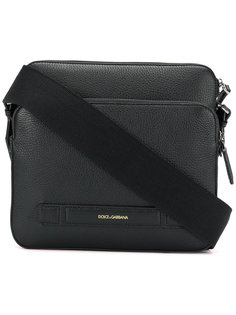сумка-почтальонка с тиснением логотипа Dolce & Gabbana