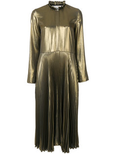 плиссированное платье металлик  Golden Goose Deluxe Brand