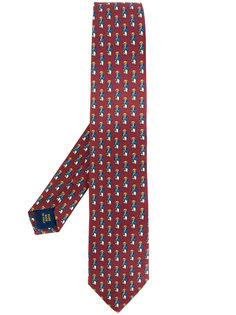галстук с принтом плюшевых медведей Polo Ralph Lauren