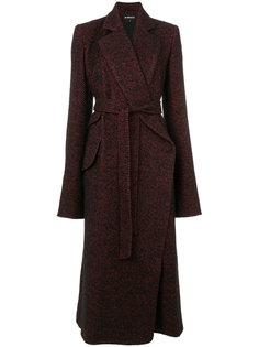 пальто с запахом  Ann Demeulemeester