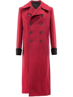 удлиненное двубортное пальто Haider Ackermann