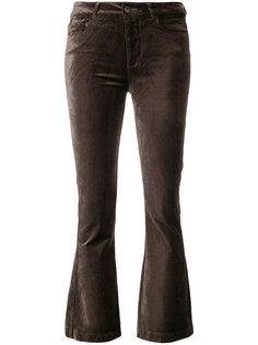 укороченные расклешенные вельветовые брюки Paige